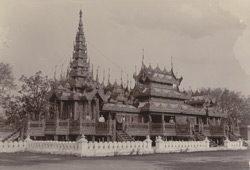 King Thibaw's Kyaung now used as a throne [Mandalay]